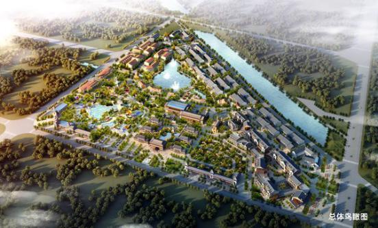 图一:平舆上河城项目总体鸟瞰图-平舆县重点招商项目违规销售 商铺