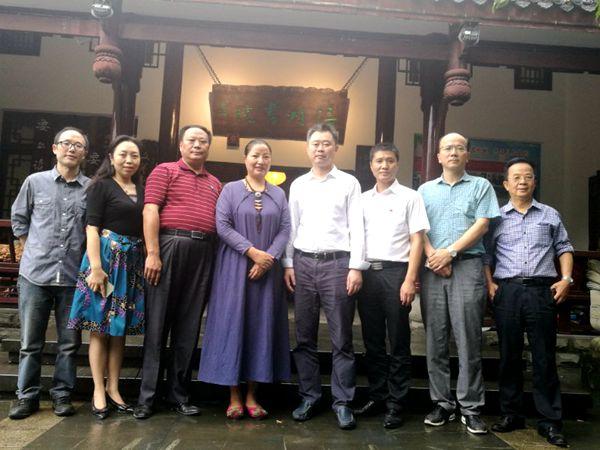 重庆市文化委领导莅临涪陵区图书馆南湖分馆一一涪州书院调研