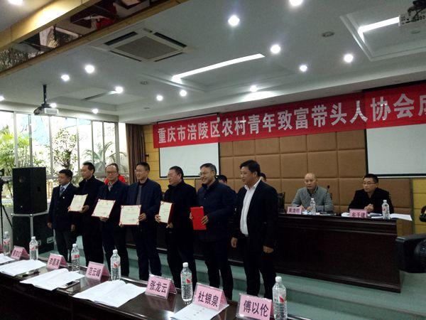 重庆市涪陵区农村青年致富带头人协会正式成立