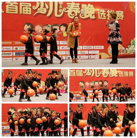 好孩子幼儿园《篮球宝贝》晋级涪陵区首届少儿春晚复赛