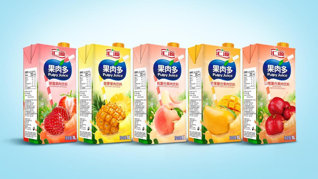 汇源果肉多包装焕新升级,为消费者带来全新体验